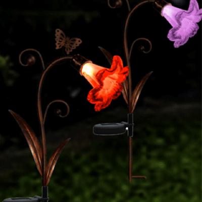Solar LED Trumpet Flower